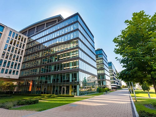 Image of a modern glass office building