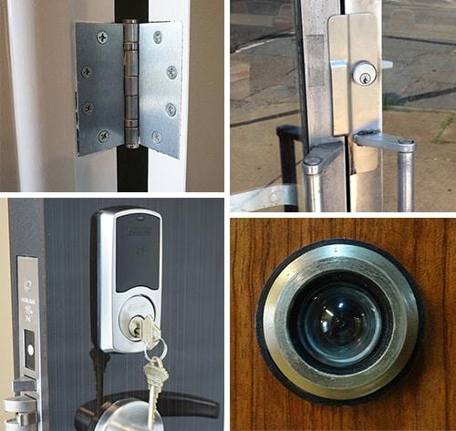 photo of assorted door hardware