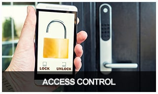 Image of a smart lock being unlocked with a smart phone app