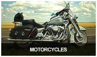 Image of a large, cruiser motorcycle